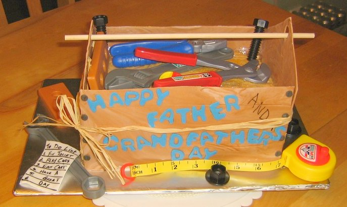 Father's Day Tool Box Cake