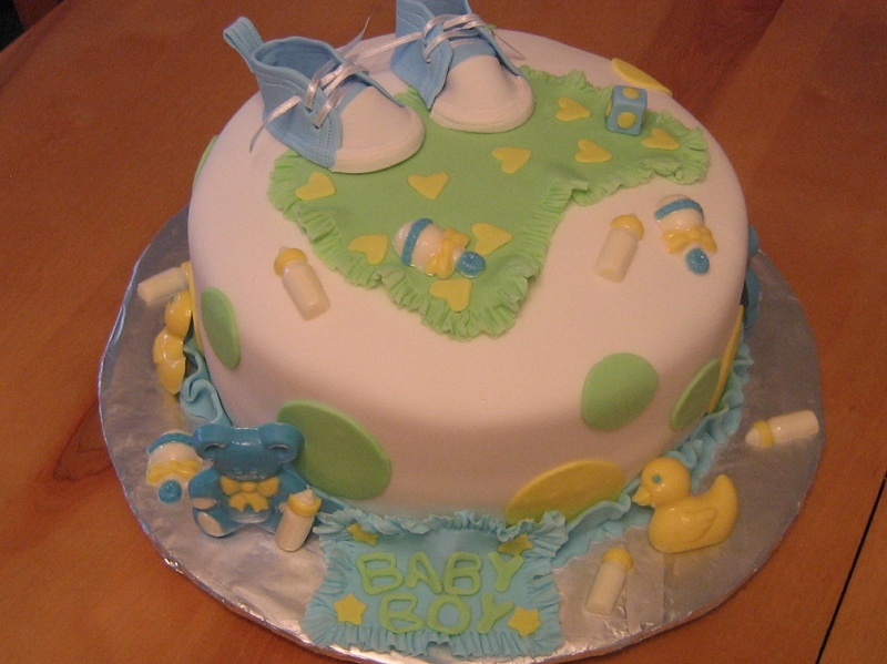 It's A Boy Shower Cake
