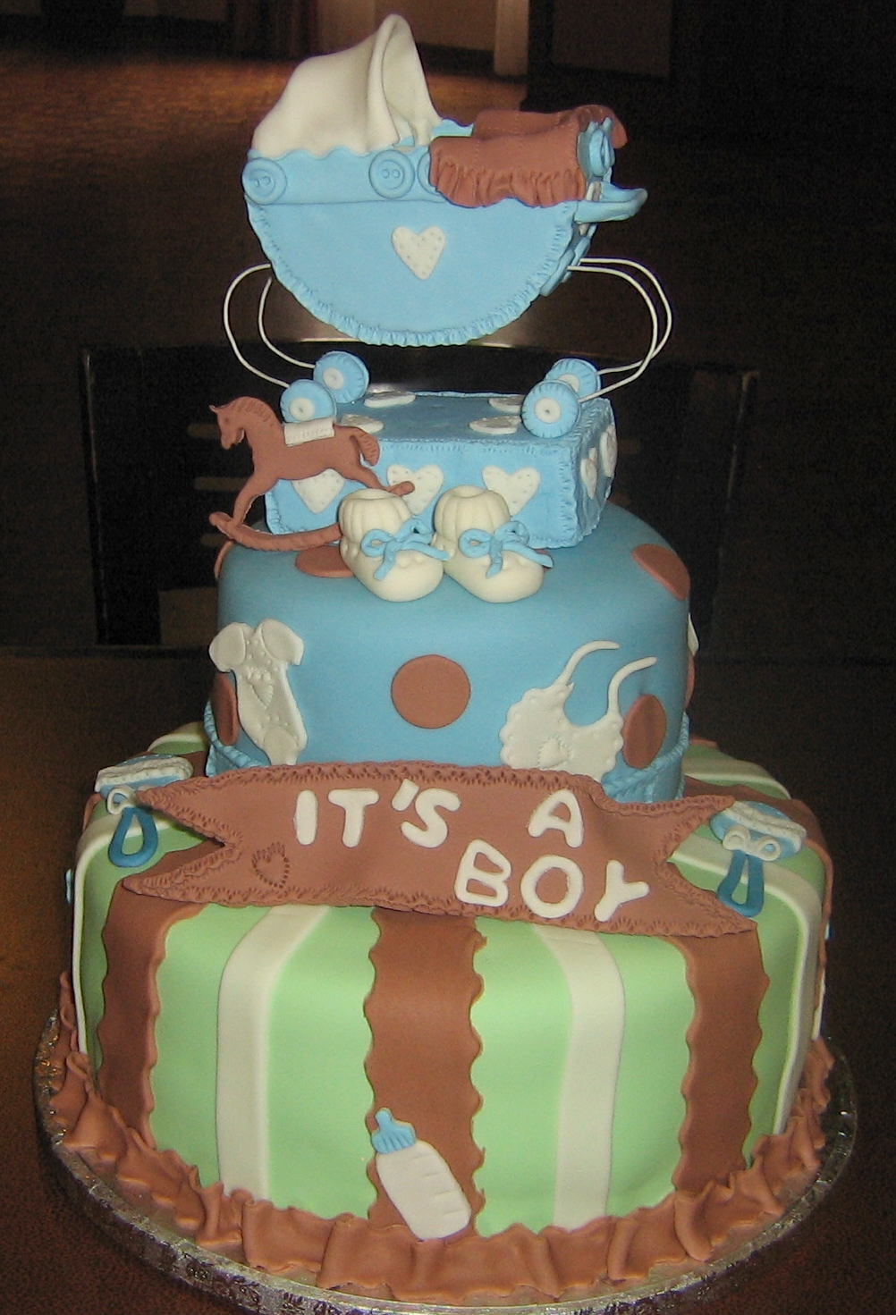 Cake Decorating Baby Carriage : It s A Boy