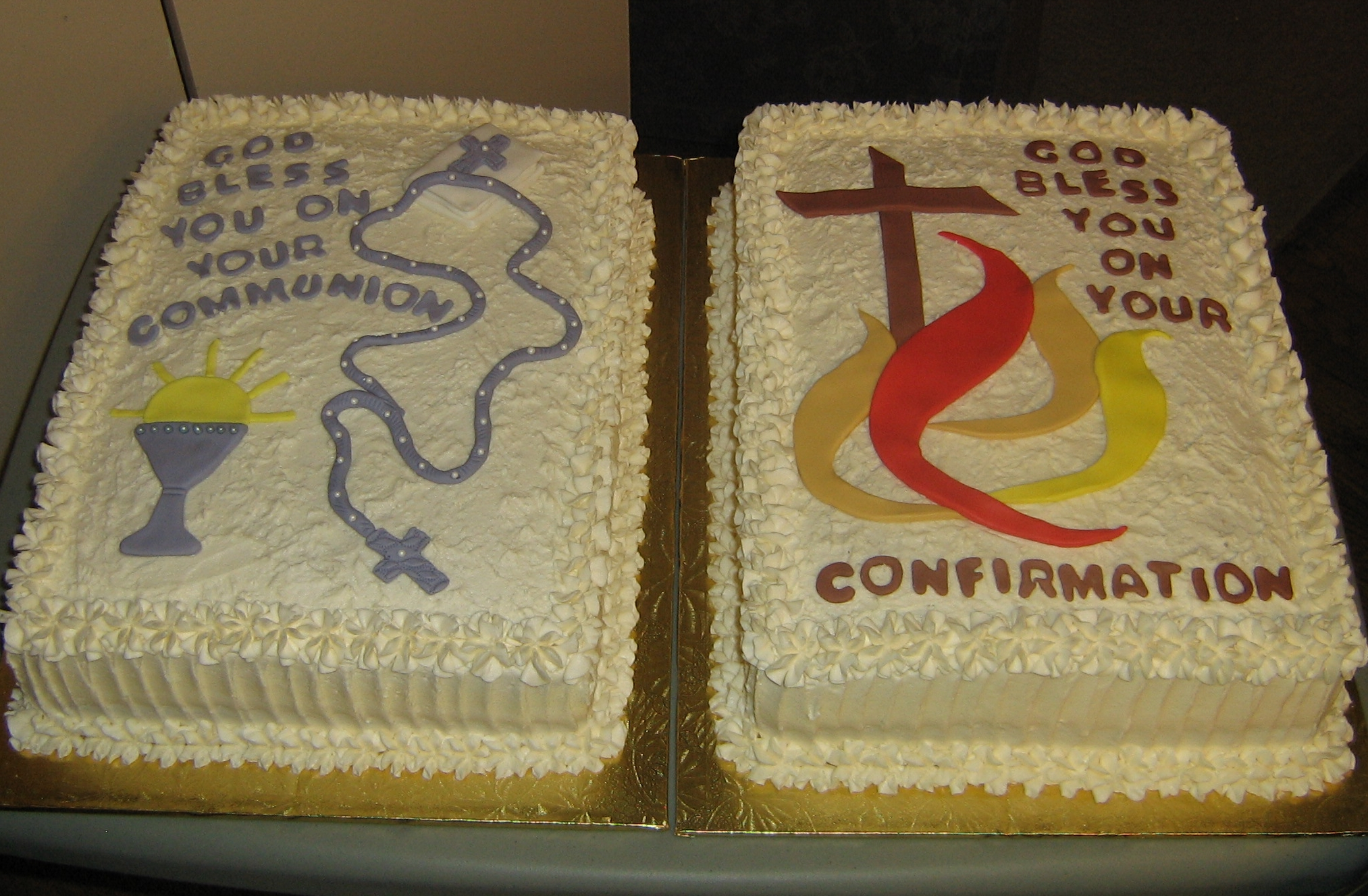 Confirmation and Communion Cakes