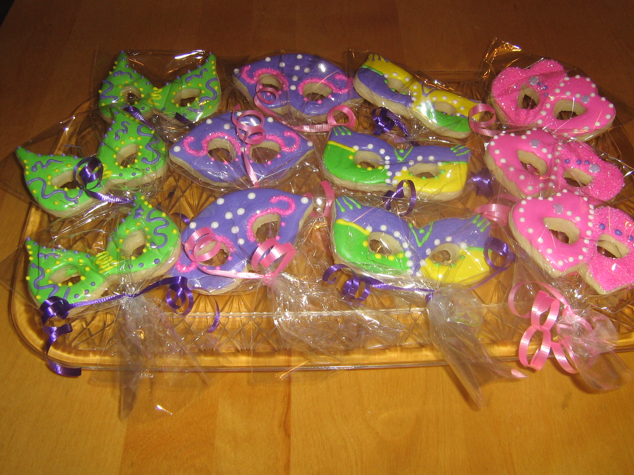 Mardi Gra Theme Sugar Cookies