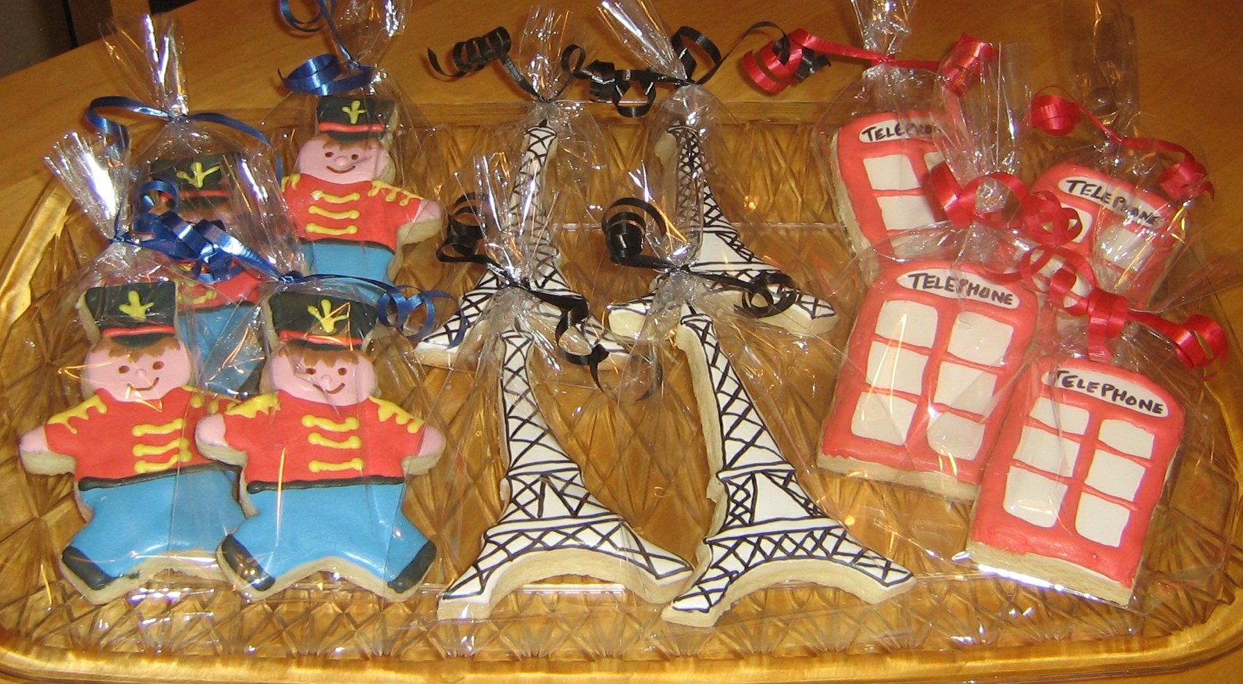 English Themed Sugar Cookies