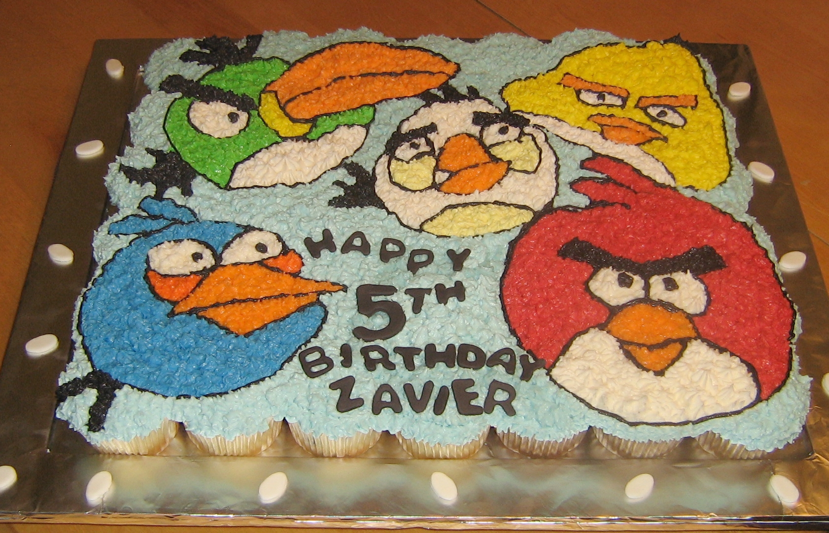 Five Angry Birds (pull a part cake)