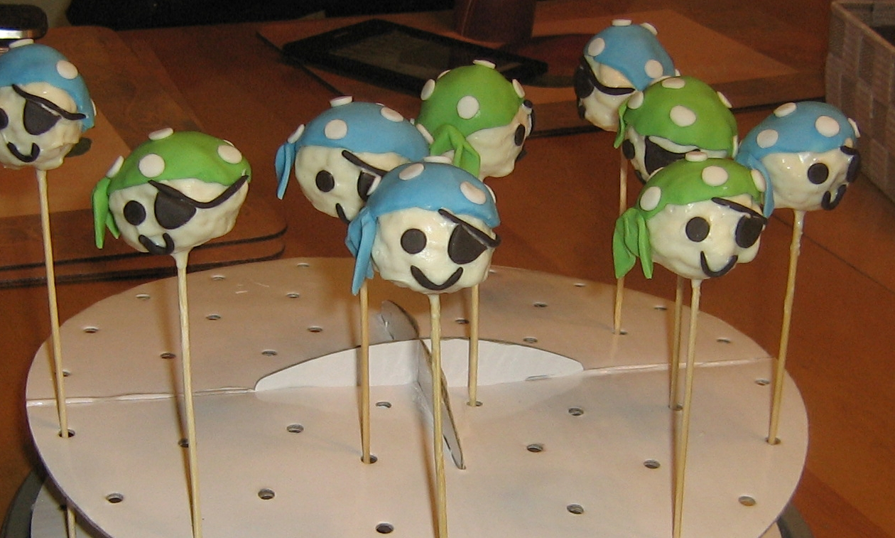 Pirate Rice Krispie Pops