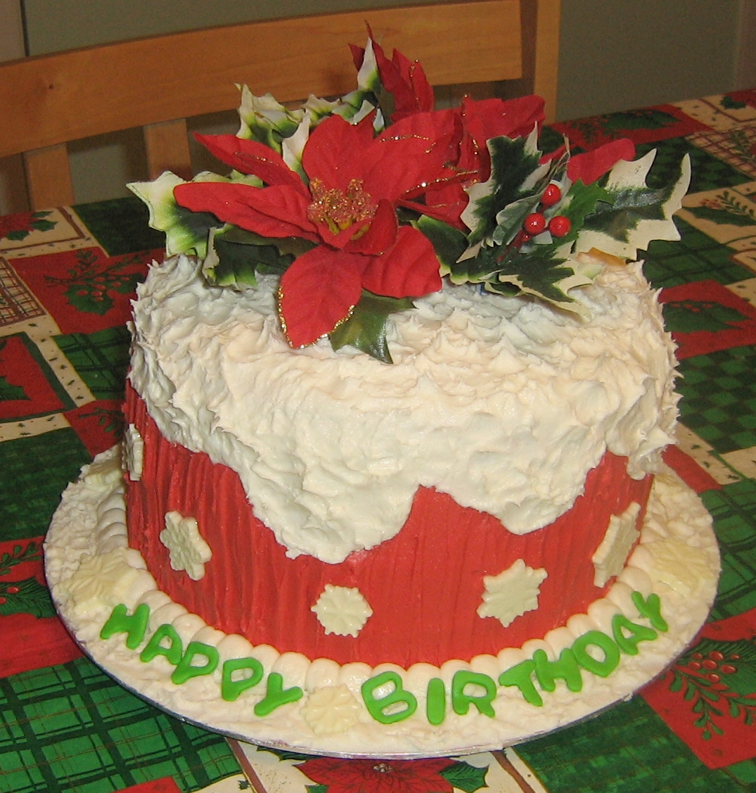 Christmas Birthday Cake Christmas Birthday