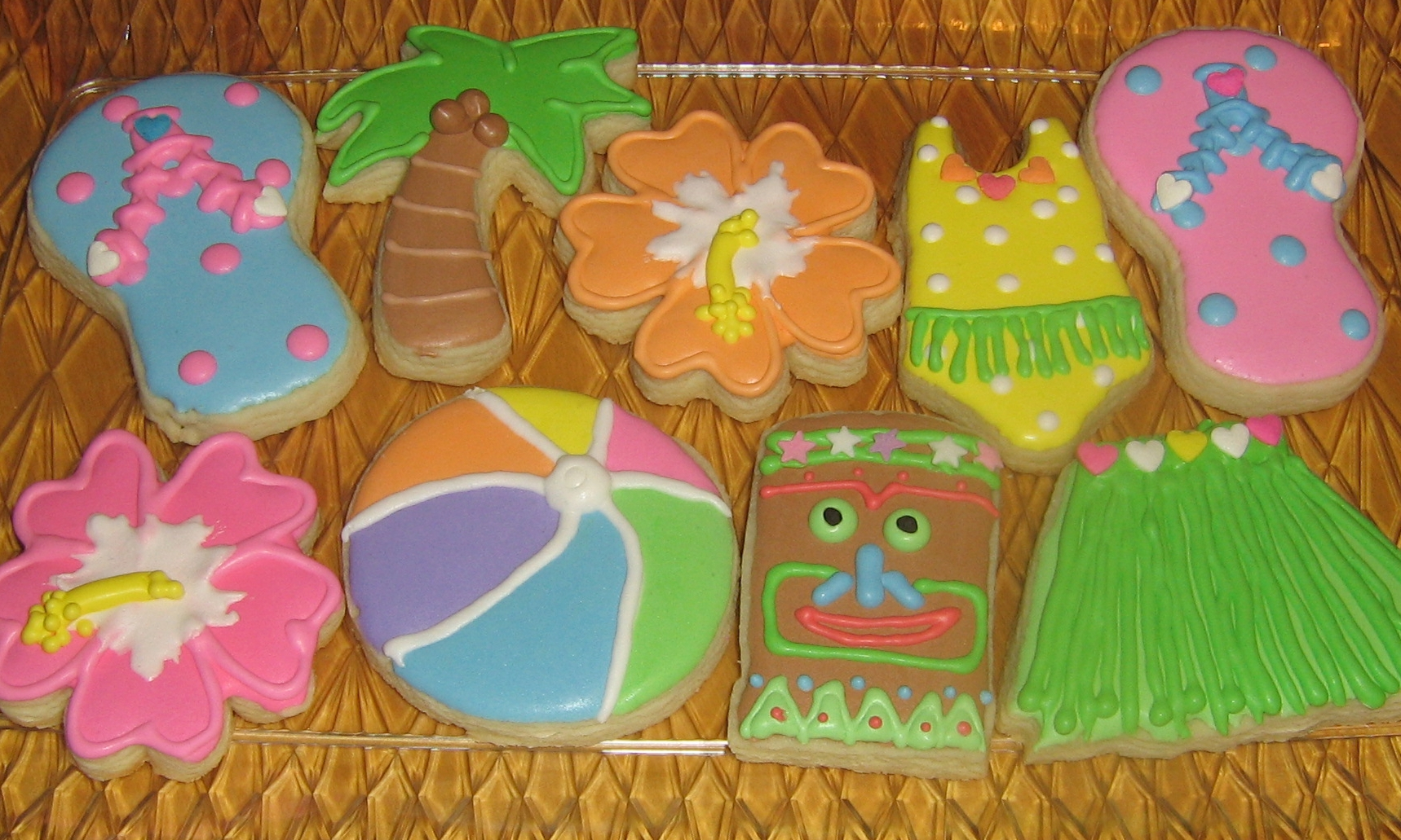 Hawaiian/Luau Sugar Cookies